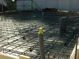 Заливка фундамента – железо-бетонной монолитной плиты, Зеленогорск
