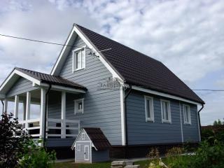 Построенный каркасный дом по проекту КД 018