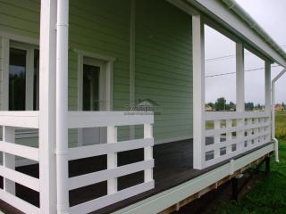 Каркасный дом по проекту КД 023 с террасой в КП «Прилесье»