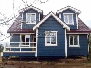 Каркасный дом индивидуальному проекту в д. Высокое, в комплектации «Закрытый контур»