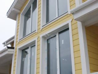 Каркасный дом по проекту КД 001 с террасой в КП «Карельский Бриз»