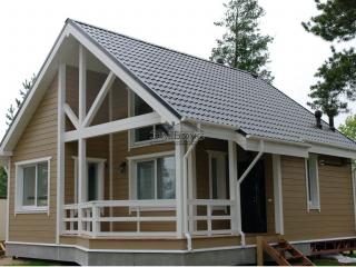 Построенный каркасный дом по проекту КД 011 в д. Васкелово