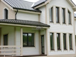 Каркасный дом по проекту КД 017 в п. Запорожье, в комплектации «Под ключ»