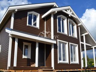 Каркасный дом по проекту КД 024 в комплектации «Закрытый контур», в д. Березовка