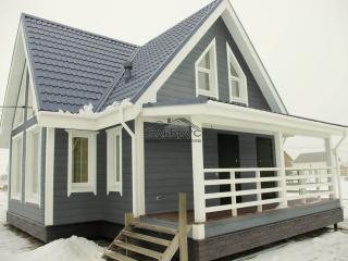 Каркасный дом по проекту КД 027 в КП Долина Уюта, в комплектации «Под ключ»