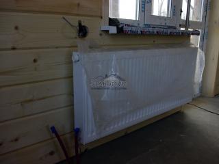 Установка радиаторов - Каркасный дом по проекту КД-020 в п. Овсяное