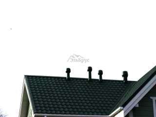 Система вентиляционных выходов - Каркасный дом по проекту КД 021 в д. Мыза-Ивановка