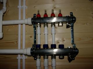 Монтаж системы отопления, проект КД 057 в СНТ «КЭТ» - Коллекторная группа