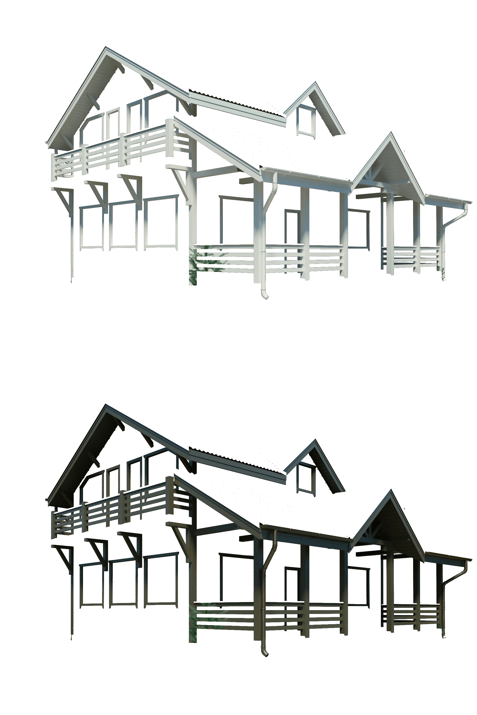 Базовый вид каркасного дома