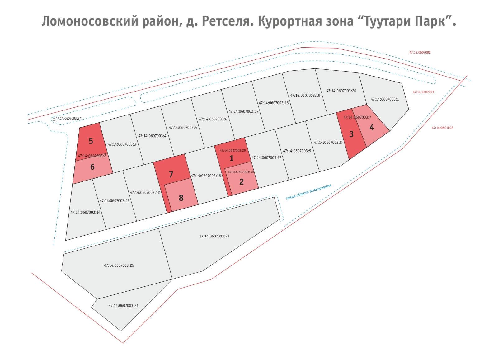 План участков д. Ретселя
