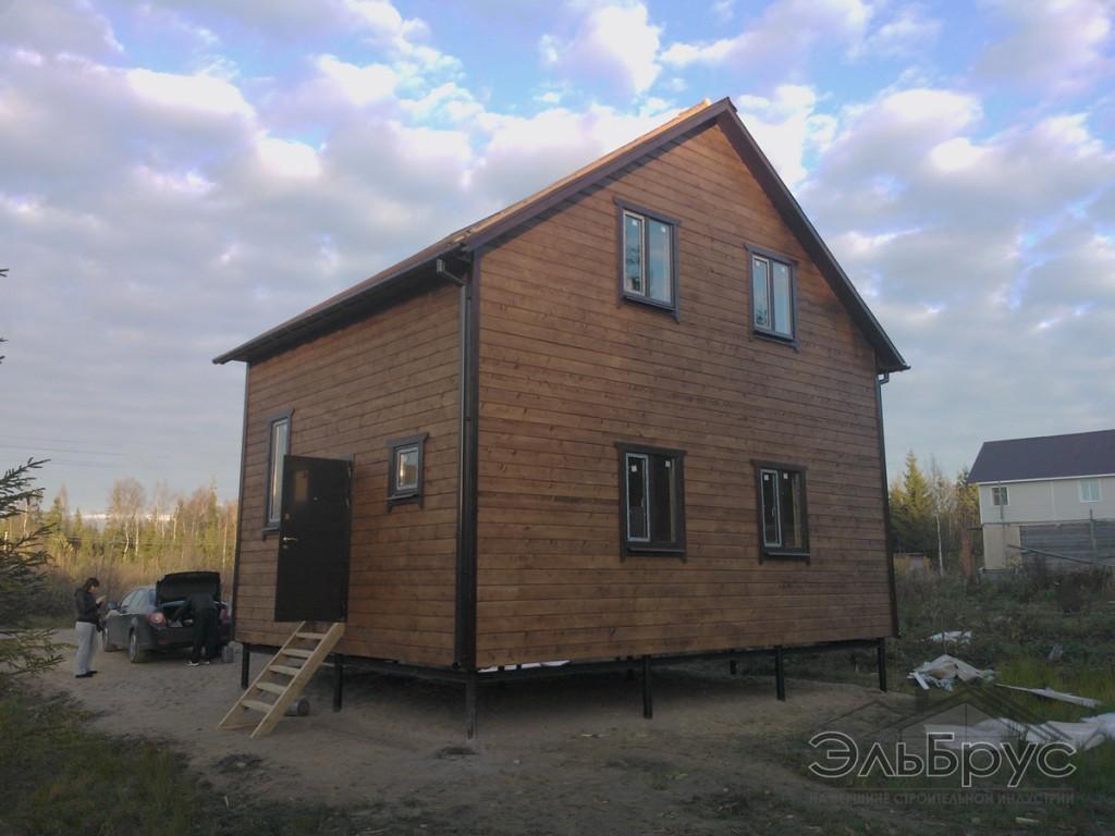 Каркасно-щитовой дом по проекту ДД-011