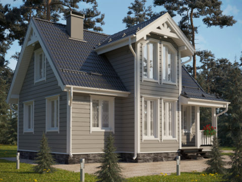 Проект каркасного дома ЭльБрус КД-015 - Общий вид