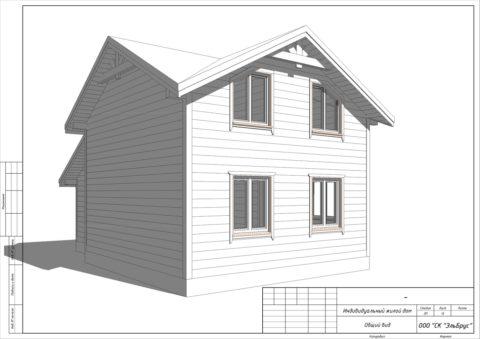 Каркасный дом в комплектации «С отделкой» по индивидуальному проекту, пос. Ульяновка - Общий вид