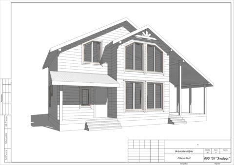 Каркасный дом по индивидуальному проекту в комплектации «Под ключ» с «Инженерным пакетом», ДПК «Ягодное»