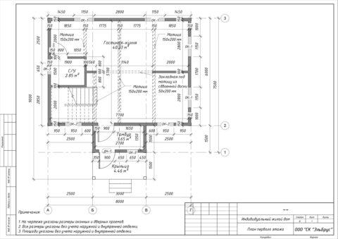 Каркасный дом в комплектации «Закрытый контур» по проекту КД 006, СНТ «Олимпиец» - План 1-ого этажа