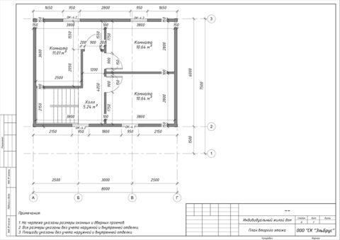 Каркасный дом в комплектации «Закрытый контур» по проекту КД 006, СНТ «Олимпиец» - План 2-ого этажа