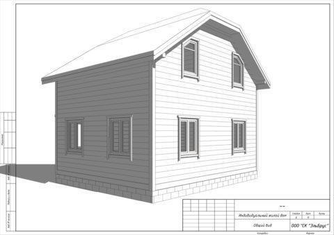Каркасный дом в комплектации «Закрытый контур» по проекту КД 006, СНТ «Олимпиец» - Общий вид