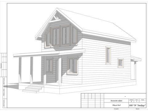 Каркасный дом по проекту КД 025, СНТ «Рахья» - Общий вид