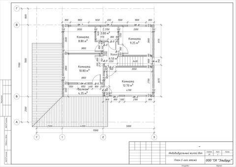 Каркасный дом в комплектации «С отделкой и инженерией» по проекту КД 033, СНТ «Фауна» - План 2-ого этажа