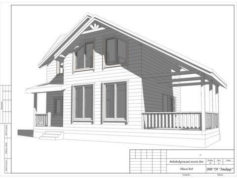 Каркасный дом по проекту КД 029, КП «Балтийская Слобода 2» - Общий вид