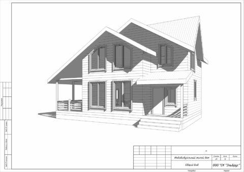 Каркасный дом по проекту КД 029, СНТ Фауна