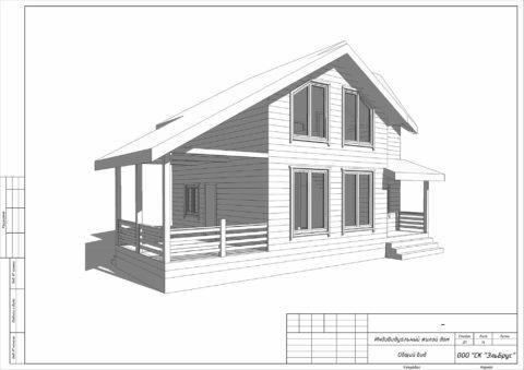 Каркасный дом по проекту КД 029 СНТ Фауна