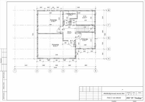 Каркасный дом по проекту КД 029, СНТ Фауна - План 2-ого этажа