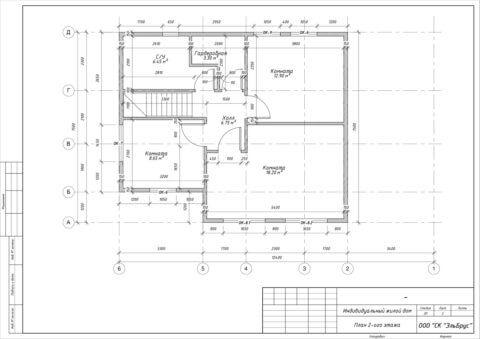 Каркасный дом в комплектации «Под ключ с полным инженерным пакетом» по проекту КД 029 - План 2-ого этажа