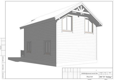 Каркасный дом по проекту КД 046, ДНП «Дружное» - Общий вид