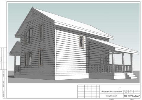 Каркасный дом по проекту КД 052, Смоленская область, д. Щеченки - Общий вид