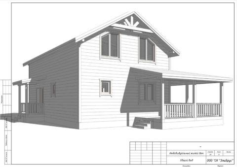 Каркасный дом по проекту КД 001, д. Раздолье - Общий вид