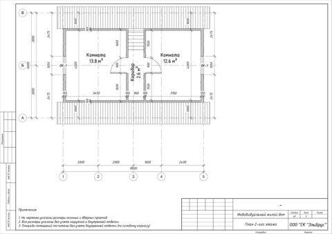 Каркасный дом в комплектации «Закрытый контур» по проекту ДД 004, пос. Лукаши - План 2-ого этажа