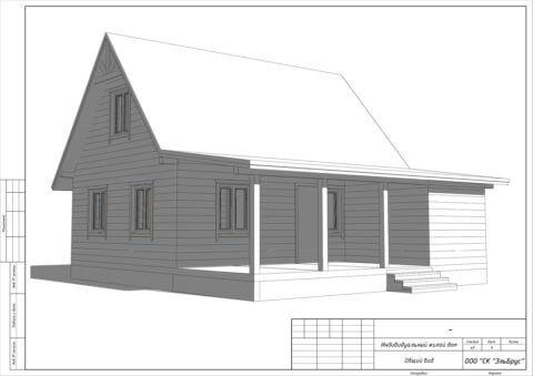 Каркасный дом в комплектации «Закрытый контур» по проекту ДД 004, пос. Лукаши - Общий вид
