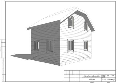 Каркасный дом по проекту КД 006 в комплектации «Закрытый контур», п. Владимировка - Вид 3