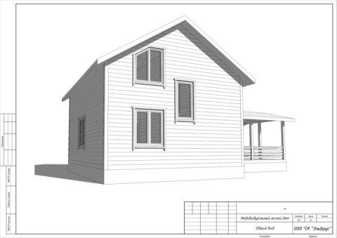 Каркасный дом по проекту КД 021 в комплектации «Под ключ», п. Мыза-Ивановка - Вид 2