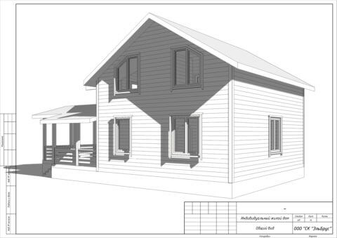 Каркасный дом по проекту КД 021 в комплектации «Под ключ», п. Мыза-Ивановка - Вид 4