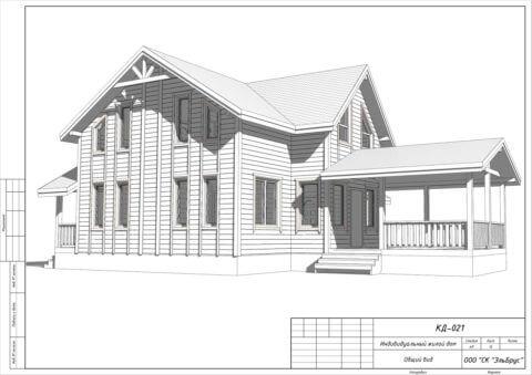 Каркасный дом в комплектации «Закрытый контур» по проекту КД 021, ДНТ «Верховский» - Общий вид