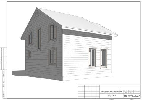 Каркасный дом по проекту КД 023, СНТ «Березка» - Общий вид