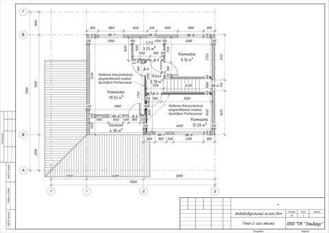 Каркасный дом в комплектации по проекту КД 033, садовый массив Мшинская - План 2-ого этажа