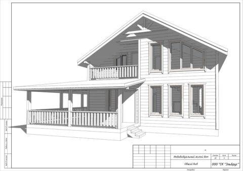 Каркасный дом в комплектации по проекту КД 033, садовый массив Мшинская - Общий вид