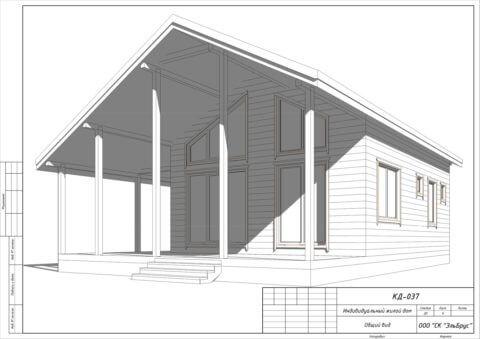 Каркасный дом по проекту КД 037, пос. Сосново - Общий вид
