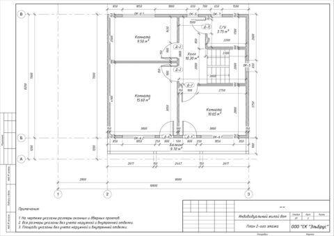 Каркасный дом в комплектации «С отделкой и инженерией» по проекту Шале 004, д. Керро - План 2-ого этажа