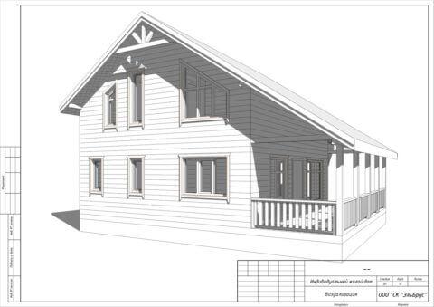 Каркасный дом в комплектации «С отделкой и инженерией» по проекту Шале 004, д. Керро - Общий вид