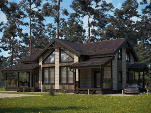 Проект каркасного дома КД-028 - Общий вид
