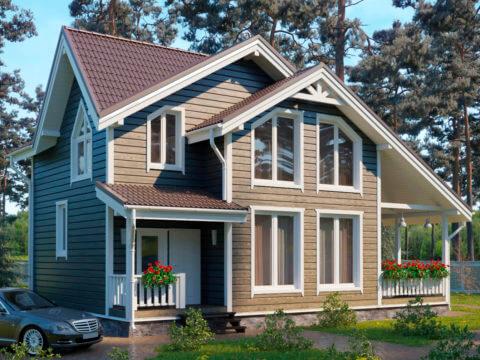 Проект каркасного дома ЭльБрус КД-029