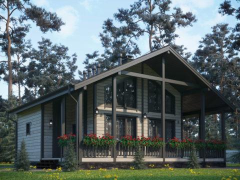 Проект каркасного дома ЭльБрус КД-030 - Общий вид