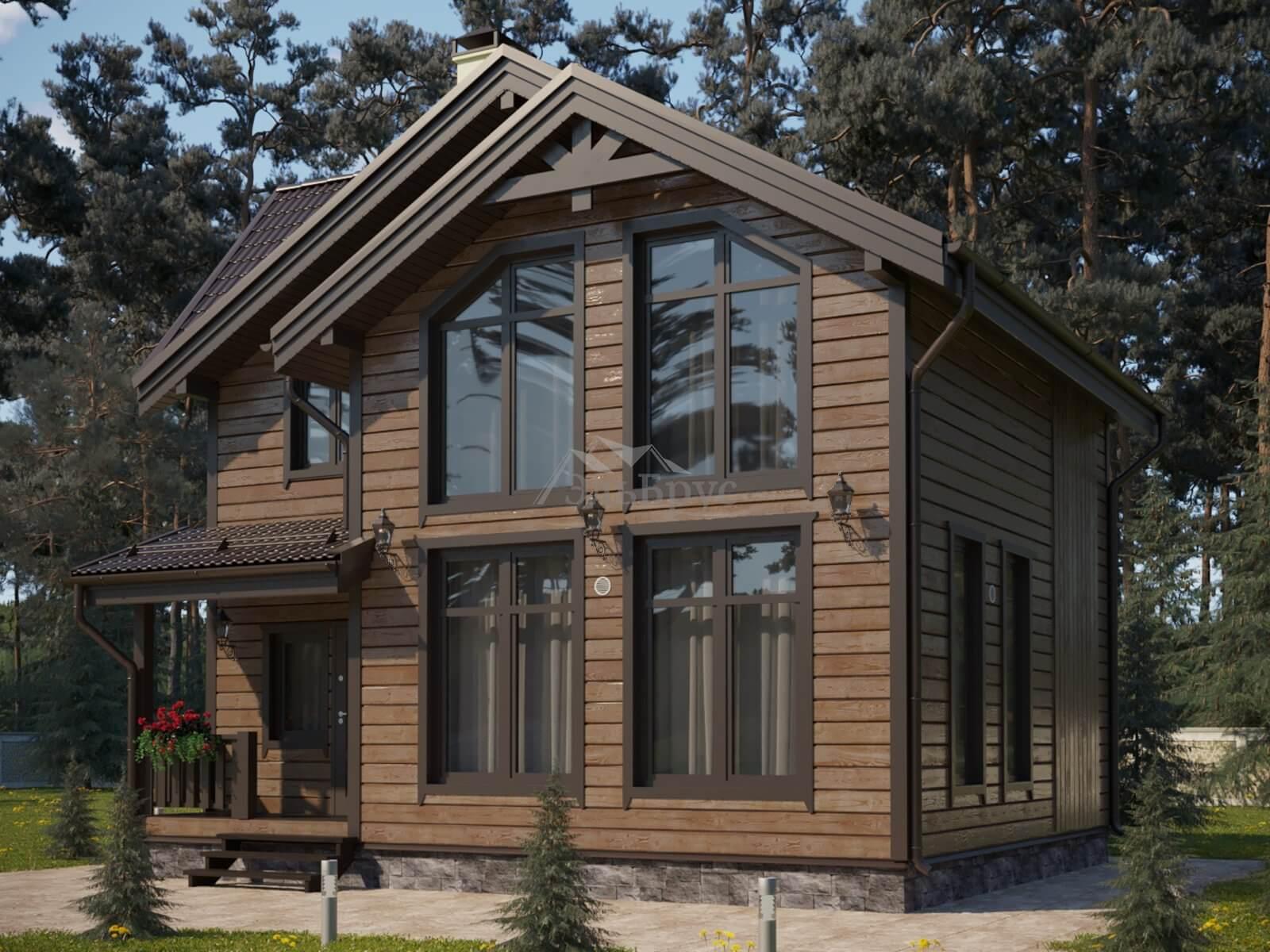 Проект каркасного дома ЭльБрус КД-031 - Общий вид