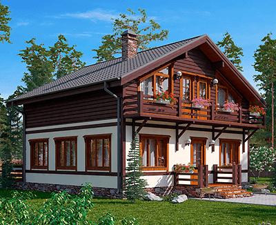 Проекты каркасных домов в стиле «Шале»