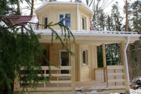 Каркасный дом по индивидуальному проекту в п. Керро