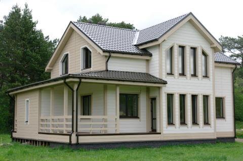 Строительство каркасного дома по проекту КД 017 в п. Запорожье, в комплектации «Под ключ»